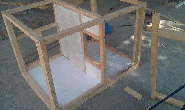 Строительство каркаса будки для алабая